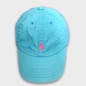 Light Blue Faded Ralph Lauren Polo Cap